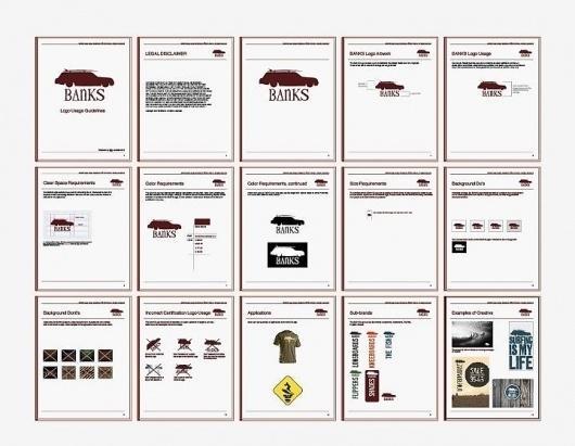 Banks   Surf products #just #surf #branding #guide #usage #design #jack #layout