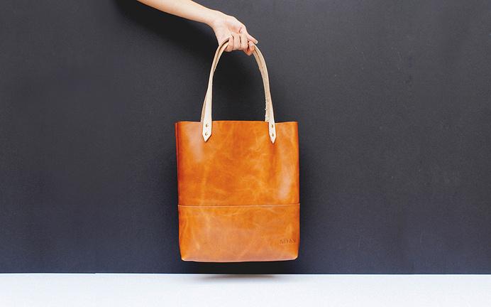 Miau Goods #tote #goodies #raw #goods #handmade #leather #bag