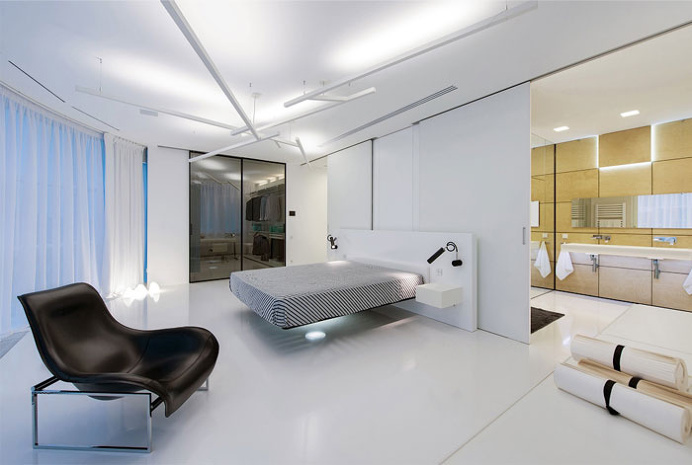 Open and Dynamic Interior in White by Ivan Yurima architects - #architecture, #home, #decor, #interior, #homedecor