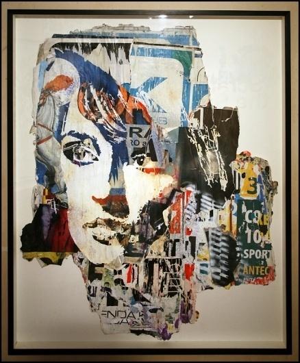Alexandre Farto aka Vhils Selected Works #illustration #collage