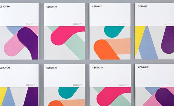 It's Nice That : Graphic Design: Bunch create great identity for Croatian print studio Cervoski #virseliai #temos isskyrimas #spalvos