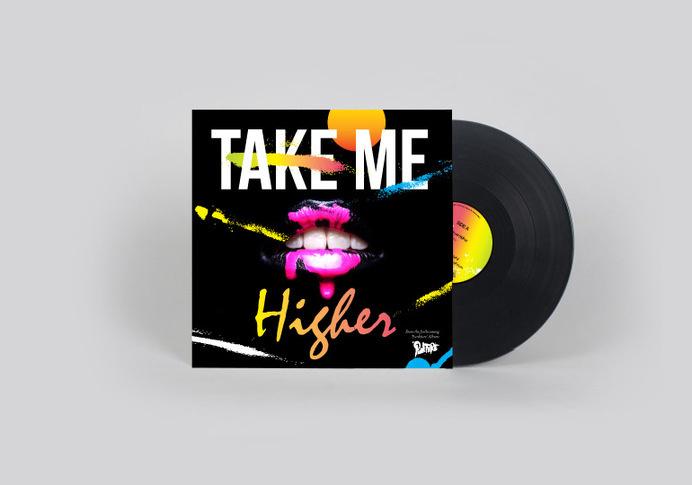 Punkture: Take me higher #album #punkture #lips #cover #artwork #vinyl #mistral #gradient #hop #flour #hip