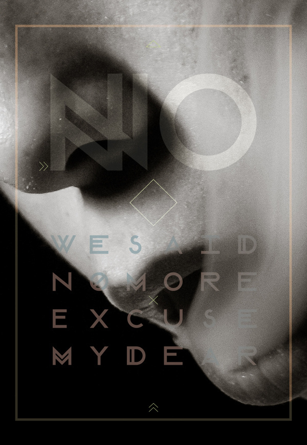 Modular Font on Behance #modular #font #white #smoke #lips #black #poster #no