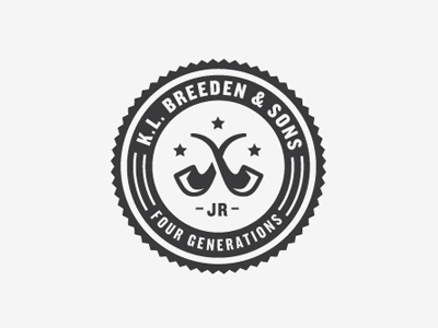 Dribbble - K.L. Breeden & Sons by Ryan Feerer #logo #pipe #typography