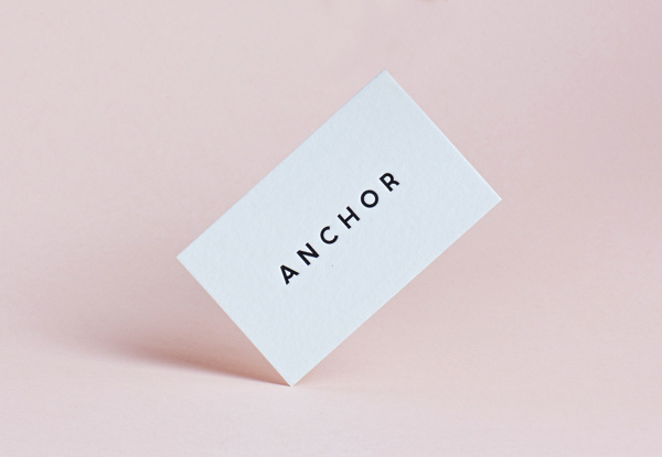 Anchor Agency Identity on Behance #card #print #minimal #business