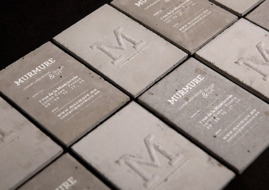 Concrete business cards | 123 Inspiration #concrete #cards #business