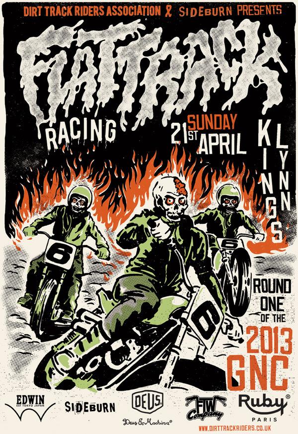 Flat Track Racing #bikers #skulls