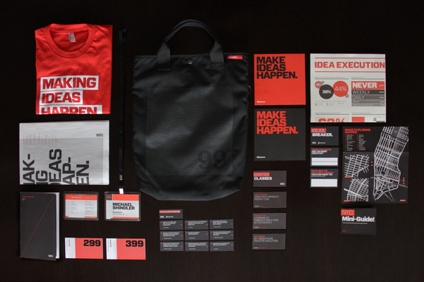 99% Conference 2012: Identity #arranging #behance #red #99