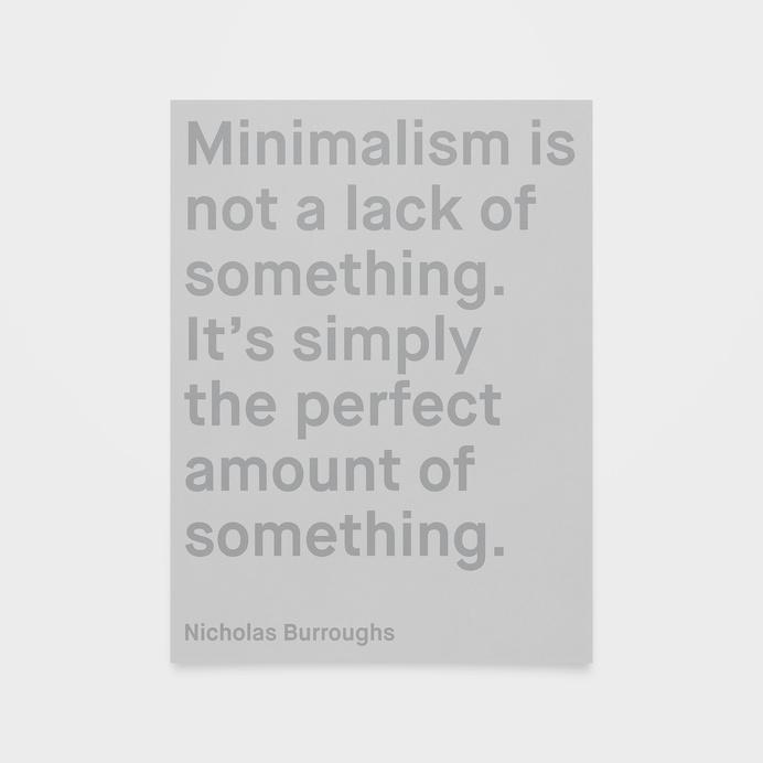Minimalism #quote #print #minimalism #poster #perfect #type #typography
