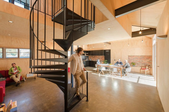 Old Factory Building Converted into a Home for an Artist and Musician