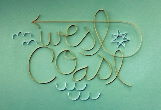Coasting — Friends of Type #lettering #handmade #typography
