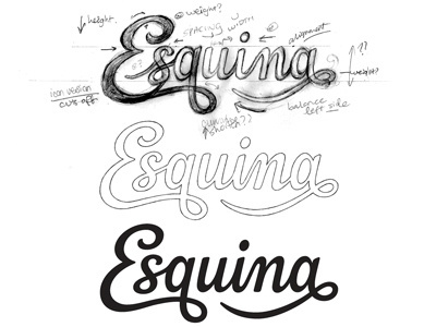esquina #inspiration #creative #lettered #personalized #design #illustration #logo #hand
