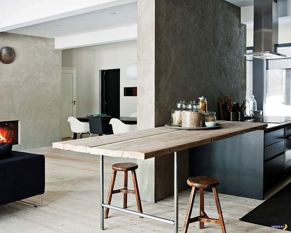 Kitchen Bench #wood #kitchen #interiors #branch