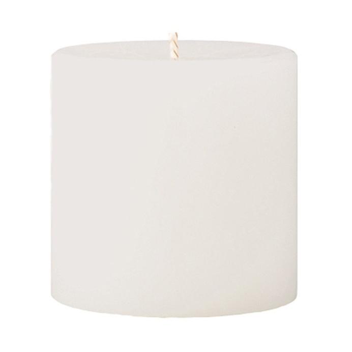 Crackle Pillar Fresh Cotton & Lavender Scented Candle, 7 x 7 cm