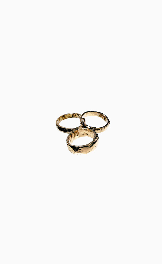 Gold plated pewter #ring #gold