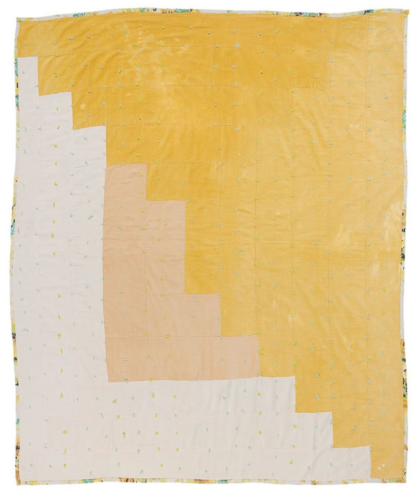 UNDERTHESUN Roy Arden #quilt #yellow #color #grid #square