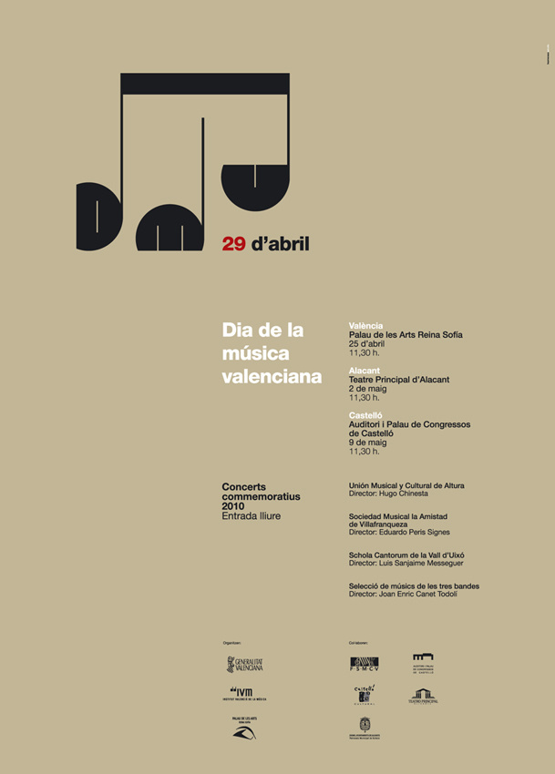 Dia de la música valenciana #graphic design #design #spain