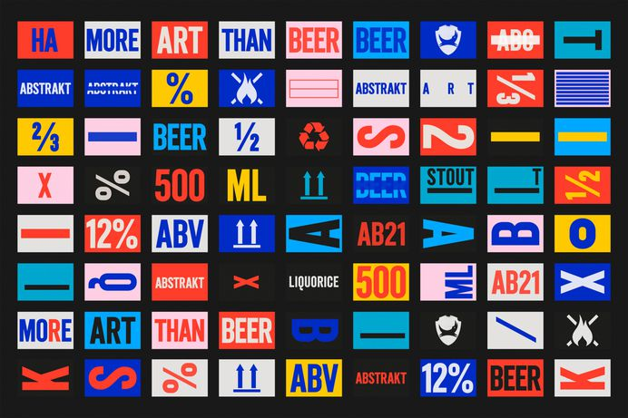 Brand identity system designed by O Street for limited edition craft beer concept Abstrakt from Brewdog