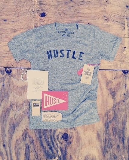 Limited Issue | Hustle | Neuarmy™ #branding #clothes #logo #brand #type #tees