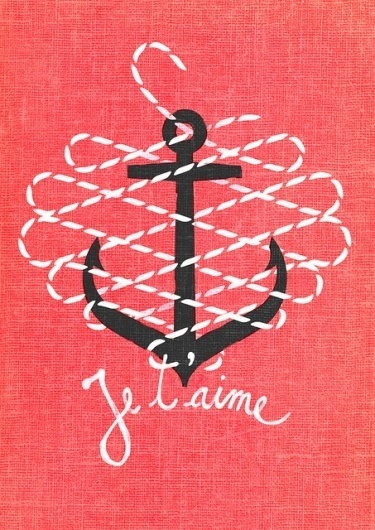 Je t'aime | Flickr - Photo Sharing! #lettering #rope #vintage #anchor #love