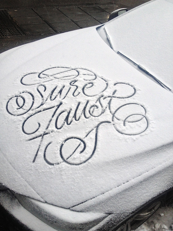 Snow Script on Behance #script #letteting #snow