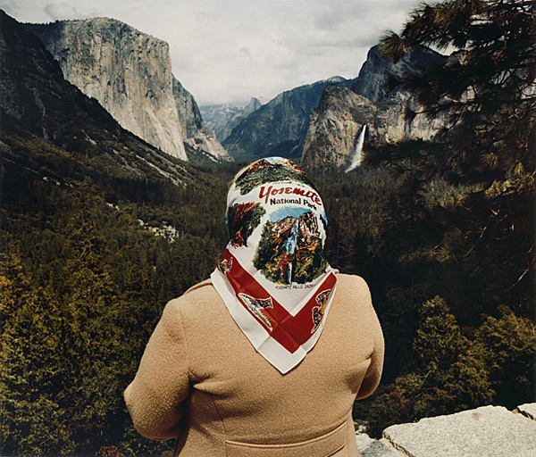 Woman with Scarf at Inspiration Point, 1980 #photo #old #mountain #woman
