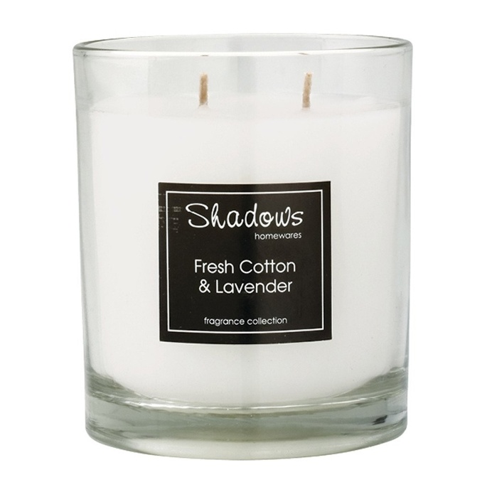 2-Wick Jar Fresh Cotton & Lavender Scented Candle