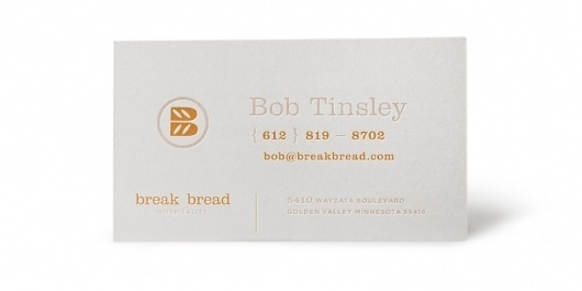 Break Bread Hospitality : Nathan Hinz #logo #card #business #typography