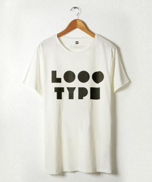 Logotype on t-shirt #logotype #white #geometry #print #black #logo #shirt #type #typography