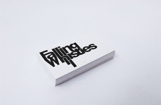 All City Design - The Online Portfolio of Marcus Russell Price #whistles #business #card #print #falling #typography