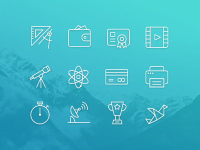 #icons #line #iconset #icon #stroke #thin #outline #vector #ui #web