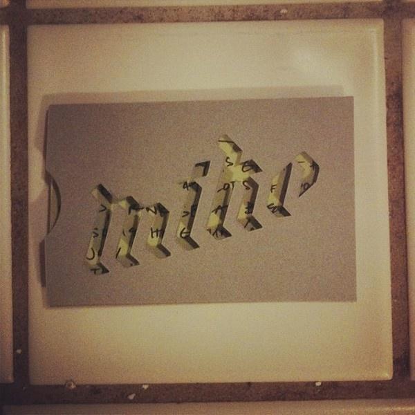 Anne Marker   Everyday Musings #die #typography