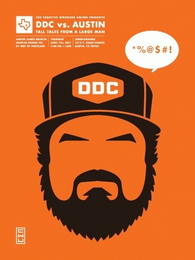 Draplin Design Co.: FOR IMMEDIATE RELEASE: #vector #design #orange #co #illustration #draplin #poster #futura