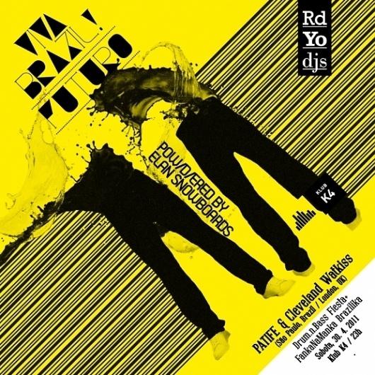 Viva Brazil! Futuro | vbg.si - creative design studio #music #flyer