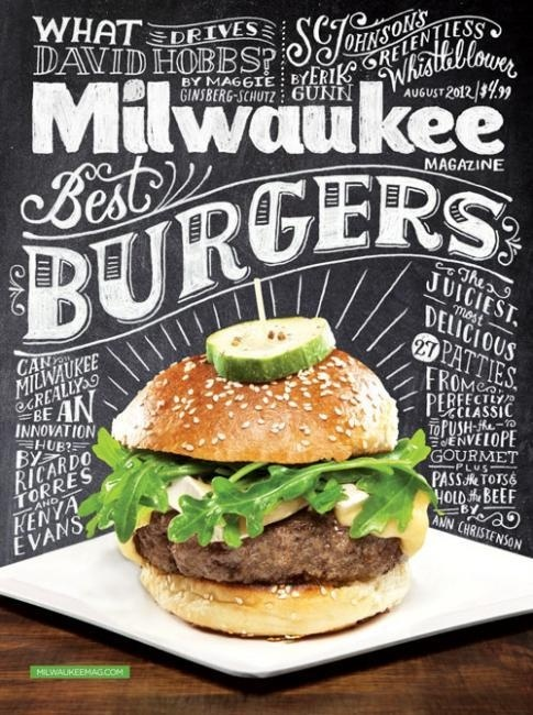 Milwaukee Magazine Cover #cover #typhography #food #typography