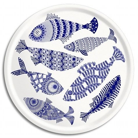 Design*Sponge » Blog Archive » ary trays (hello, summer) #plate #print #fish #tray