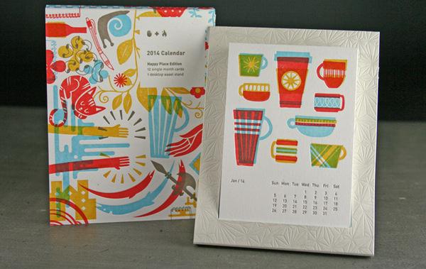 2014 Studio On Fire Desk Calendar / on Design Work Life #print #calendar #letter #press #on #fire #studio