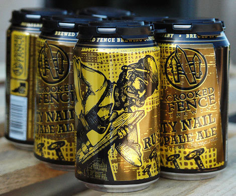 Crooked Fence Brewing Cans #packaging #beer #can #label