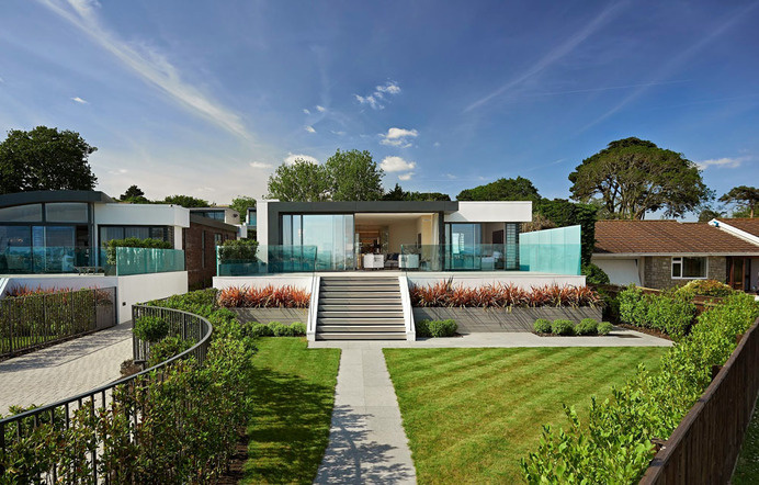 DistinguishedPair of Homes with Contemporary Appeal CollectingUK Coastline Panoramas #house #modern #home #contemporary #architecture #residence