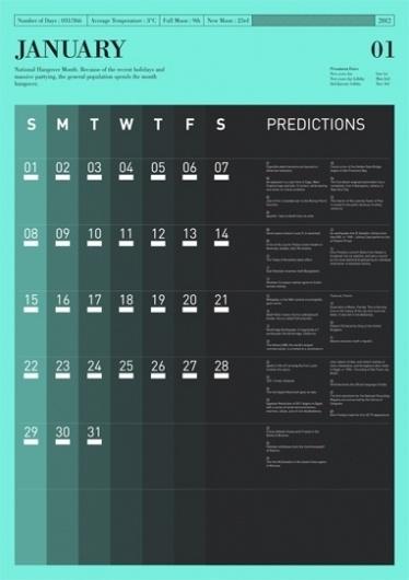 Predictions : Tim Wan : Graphic Design ombre #calendar #typography