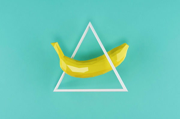 There #banana #geometry #design #graphic #geometric #triangle