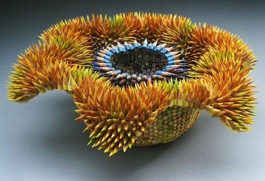 Pencil Sculptures by Jennifer Maestre #sculpture #maestre #jennifer #art #pencil