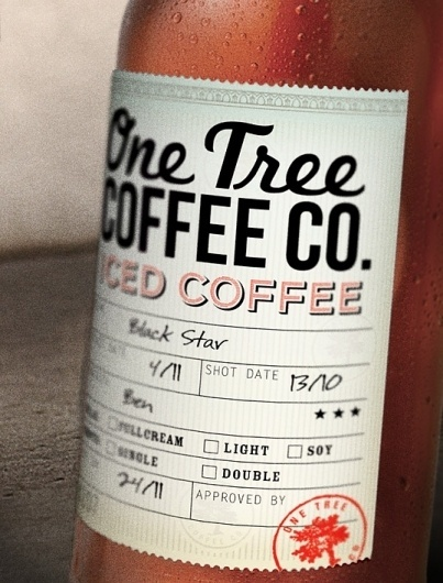 One Tree Coffee Co. : Lovely Package . Curating the very best packaging design. #labels #packaging #stamps #print #typography #written #hand #work