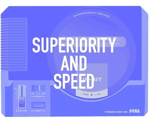 ANONYMOUS MAG #sega #superior #retro #illustration #games #fun #megadrive #console #typography