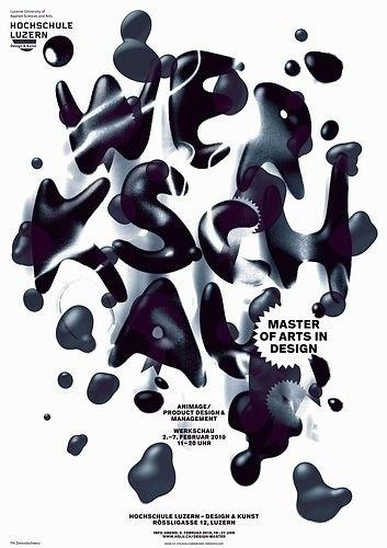 > Werkschau Master of Arts in Design 2010 #liquid #c2f #poster #typography
