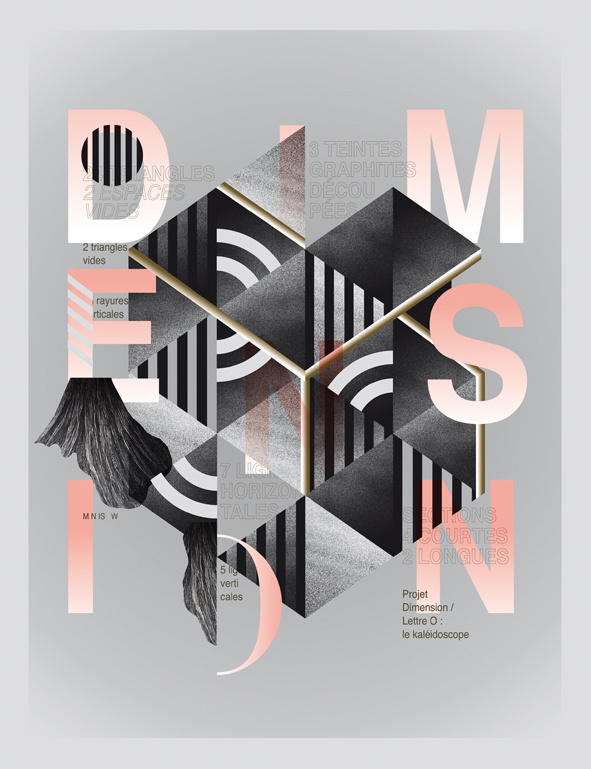 DIMENSION. O : Le kaléidoscope on Behance #print #design #graphic #typography