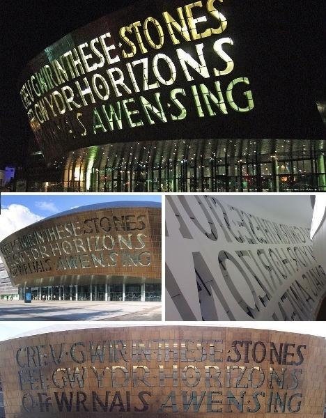 typography-architecture-wales-millennium-center.jpg (JPEG Image, 468×600 pixels) #design #environmental #architecture #type #typography