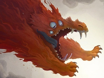 Niko & the Sword of Light - Charles Santoso #fantasy #beast #illustration #fire #monster #creature
