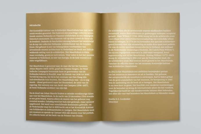 Studio Dumbar #print #editorial #spread #gold