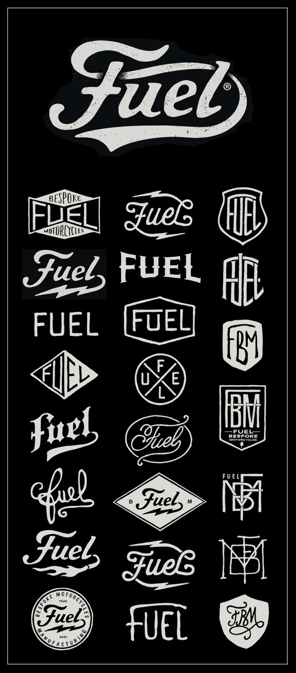 Fuel Motorcycles - New logo #fuel #logo #motorcycles #bmd #type #typography